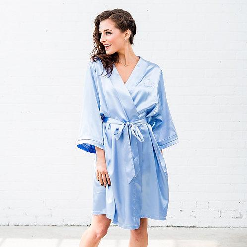 Light Blue Satin Robe