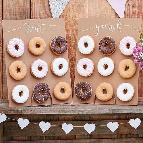 Rustic  Rainbow Donut wall