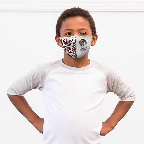 Winter Dog Sweater Mask Child