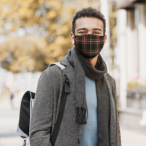 Green Plaid  Mask Adult