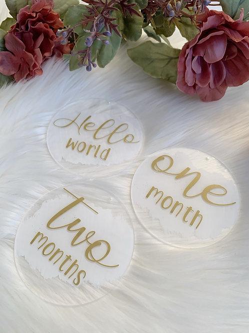 Acrylic Baby Milestone Discs