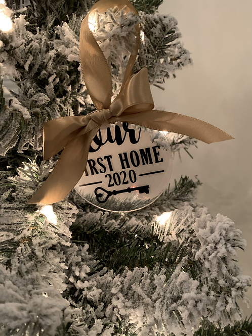 Key First Home Acrylic Ornament