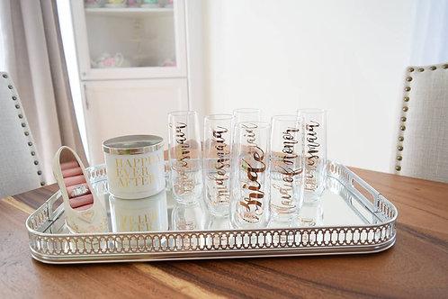 Custom Stemless Champagne Glasses