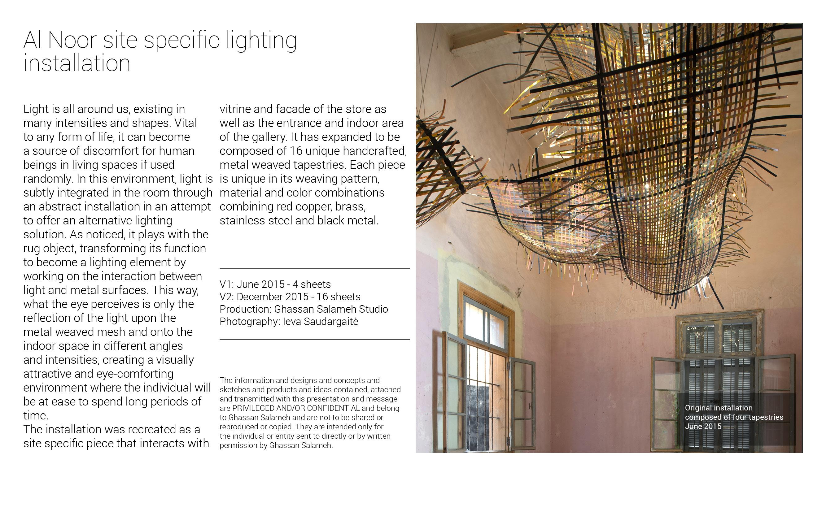 Al noor - Lighting Installation - GSS3