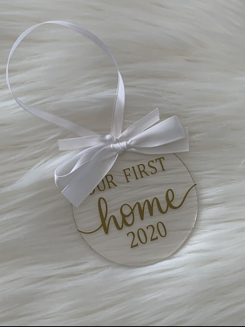 Our First Home Acrylic Ornament