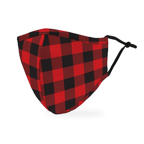 Red Plaid Mask Adult