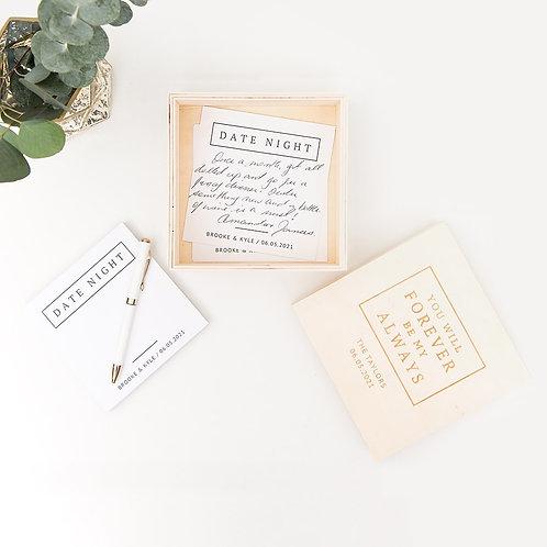 Forever & Always Wooden Keepsake Gift Box