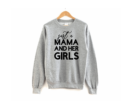 Mom and her Girls Crewneck