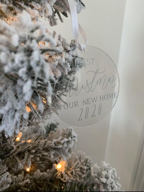 New Home  Acrylic Ornament