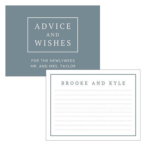 Advice and Wishes Card