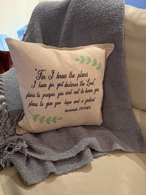 Jeremiah 29:11NIV Pillow