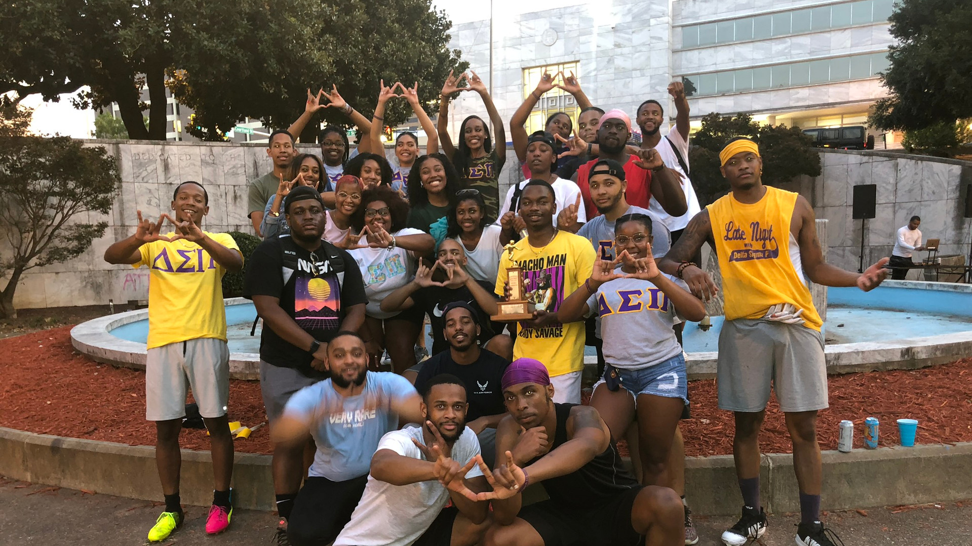 Team Kappa takes home the win at the first annual DSP vs AKPsi flag football event