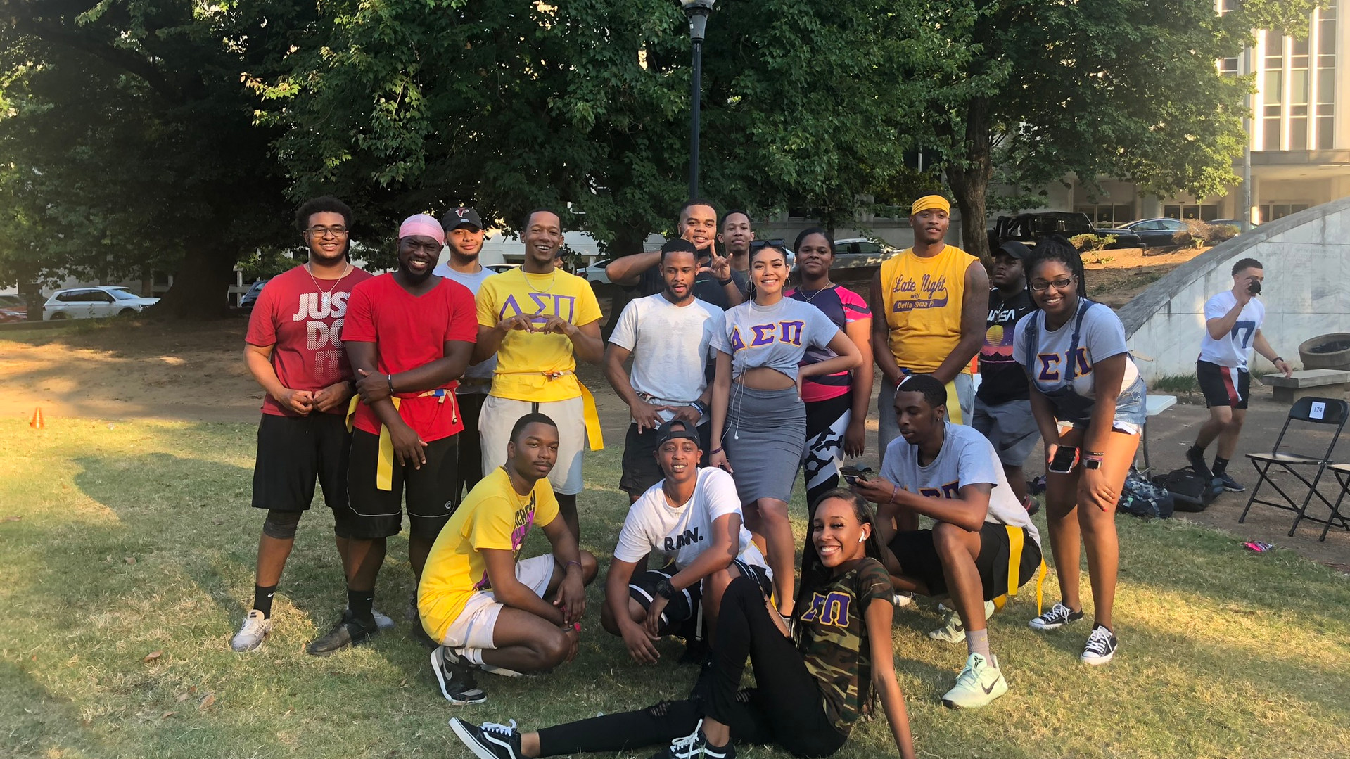 Team Kappa at the first annual DSP vs AKPsi flag football game
