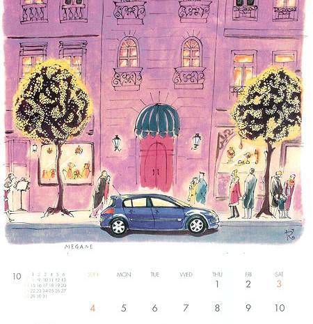 Chrismas time 日産ルノーカレンダー