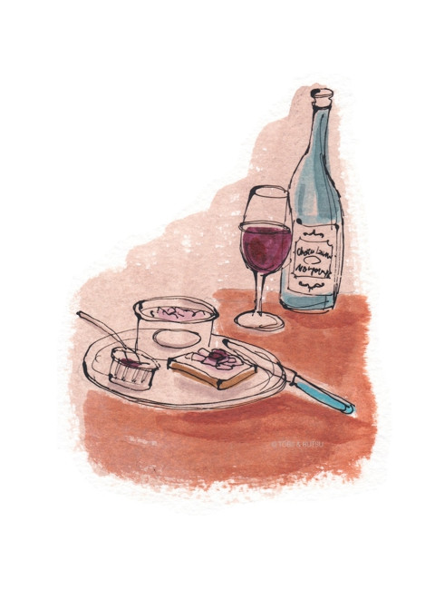 Wine on a table