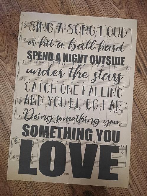 Something You Love - Kiefer Sutherland Lyric Print