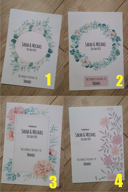 Wedding Activity Booklets [Floral]
