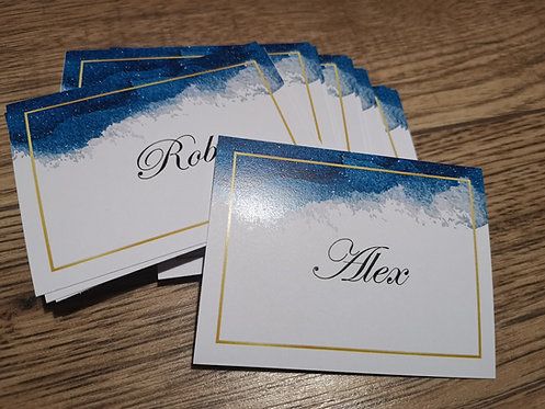 Navy & Gold Place Cards
