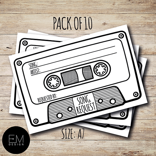 Song Request: Cassette Tape [Pack of 10]