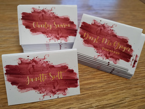 Burgundy & Gold Place Cards