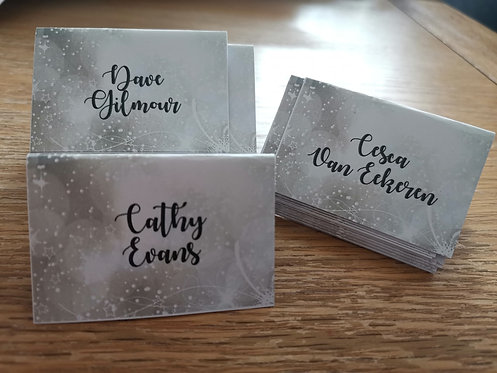 Winter Snowflake Place Cards