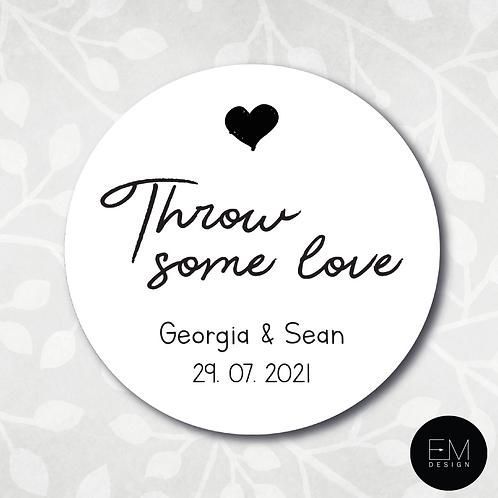 Monochrome Single Heart [Throw Some Love Stickers]
