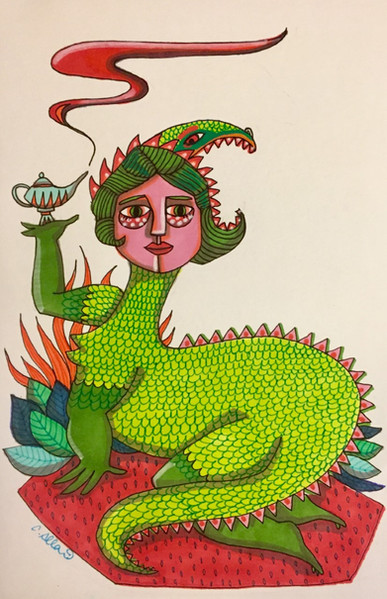 Femme crocodile