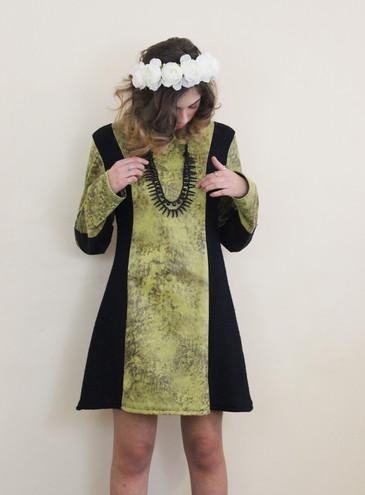 Robe Absinthe ♥ ZAWANN créateur de mode Made in France
