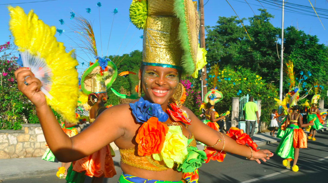 on: Guadeloupe spends two months each winter celebrating Carnival.