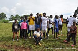 The winning young women's team