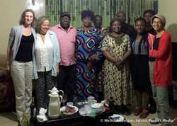 Dinner with Gaelle's family
