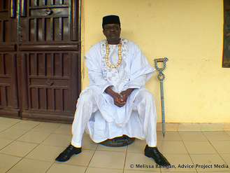 Empowerment and interviewing the fon (king) in the village of Bawock, Cameroon