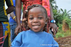 Happy little girl in Bawock