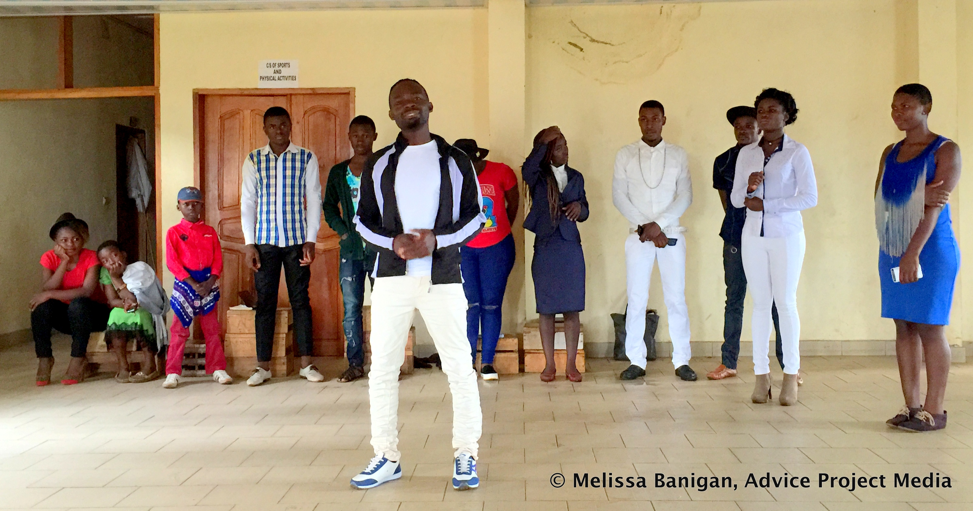 Sharing youth ideas in Bamenda