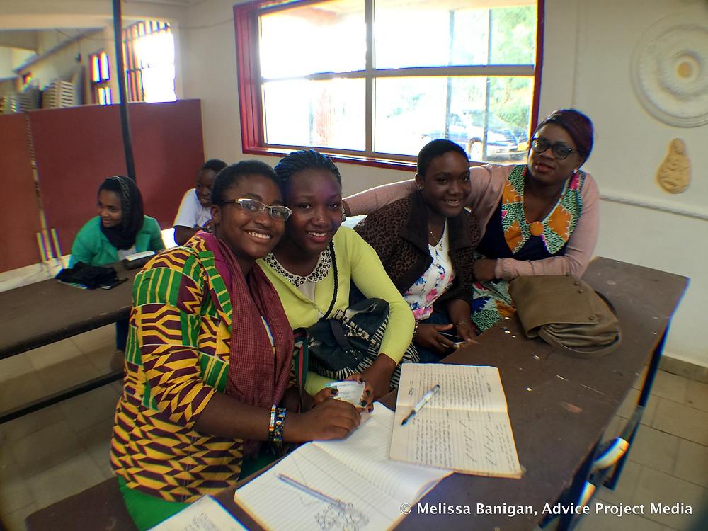 Shneider Remi Adams, Gaelle Mambo, Catherine Achoh, Blessing Nabila Fomuso