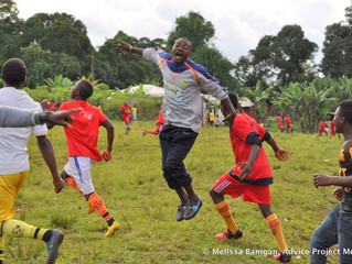 The men's soccer finals in the village of Bawock, Cameroon