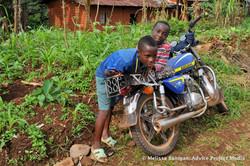 Kids with bike, Bawock