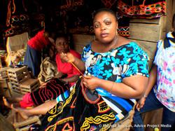 Interview subjects in Bamenda market