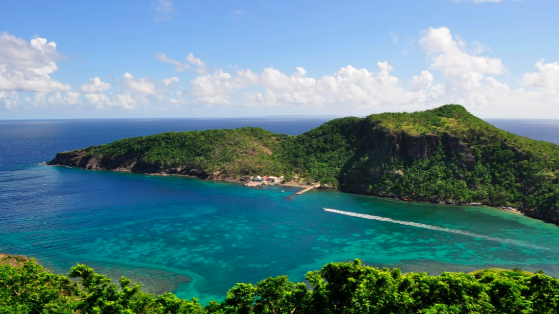 Islands of Les Saintes: Take a ferry from one of Guadeloupe's main islands to the smaller surrounding islands. A quick hike on the Islands of Les Saintes boasts a breathtaking view of the bay and the Caribbean Sea. Melissa Banigan for CNN