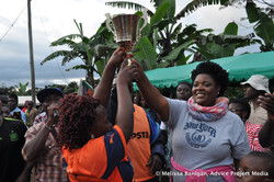 Marie-Claire Kuja and winning team