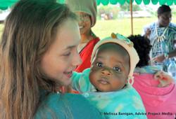 Anevay and Farmer Tantoh's baby