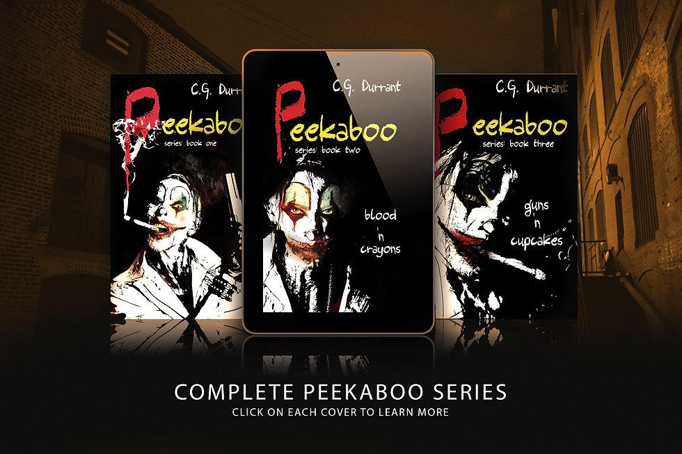 Peekaboo three tablets with sepia colour