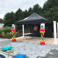 Casino Themed Balloon Columns