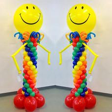 Smiley face Balloon Column