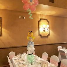 Alice in Wonderland Flower Balloon Centerpiece