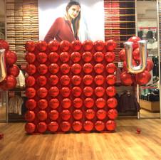 Foil Uniqlo Balloon Wall