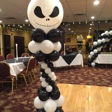 Jack Skellington Balloon Column
