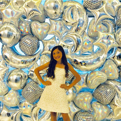 Foil Collage Balloon Wall