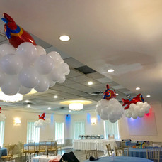Clouds and Airplanes Balloon Centerpiece