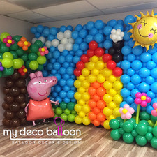 Peppa Pig themed Balloon Wall